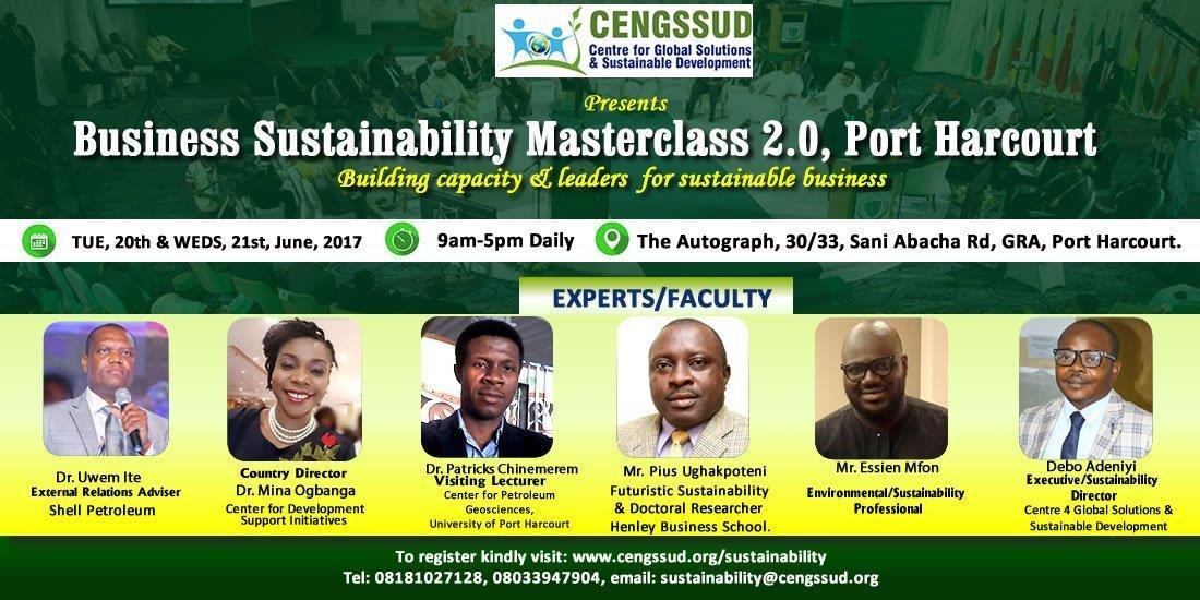 Business Sustainability Masterclass 2.0, PortHarcourt