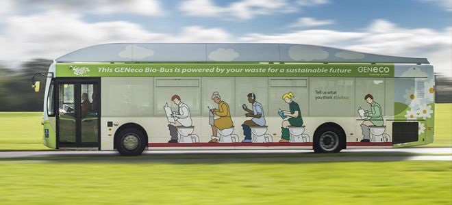 #SustyTransport: Bus powered by food waste and poop
